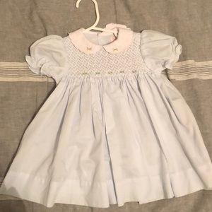 Other - NWOT Baby blue smocked dress